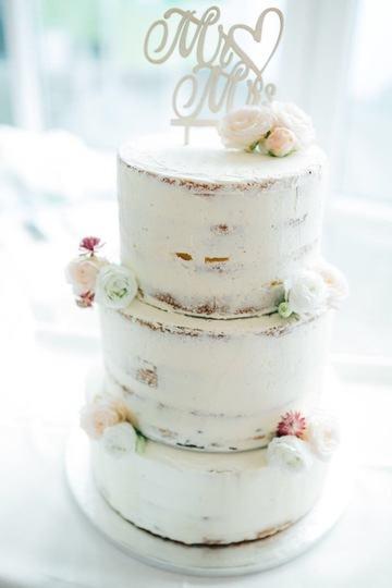 Rezept Semi-Naked-Hochzeitstorte