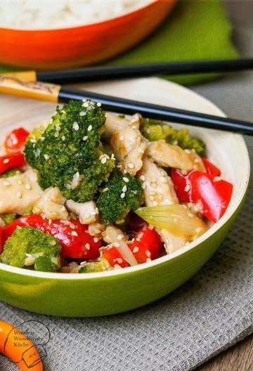 Rezept Sesam-Huhn mit Brokkoli