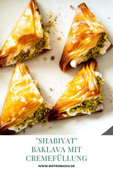 Rezept Shabiyat: Knusprige Baklava-Taschen mit Cremefüllung
