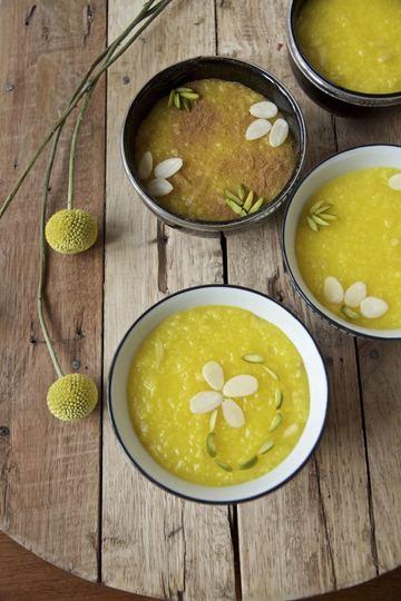 Rezept Sholeh Zard - Persischer Safran Reispudding