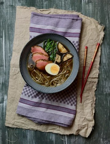 Rezept Shoyu Ramen mit Ente und Shiitake