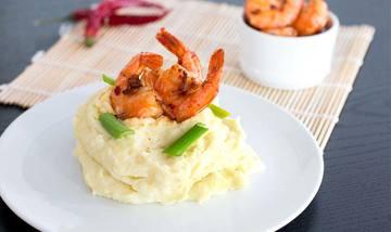 Rezept Shrimps mit Kokos-Kartoffel-Püree