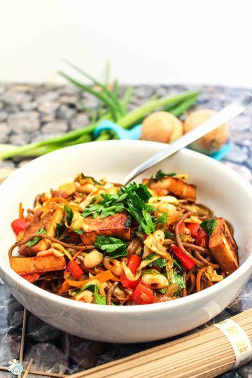Rezept Sobanudeln mit buntem Teriyaki-Gemüse