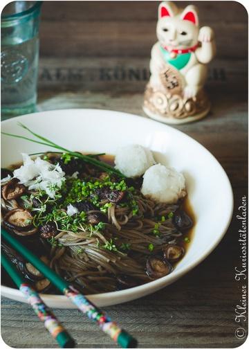 Rezept Sobanudeln mit Shiitake-Sojasauce