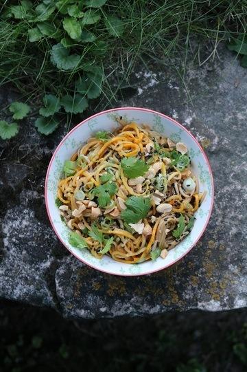 Rezept Sobanudeln mit Zucchini und Erdnusssauce