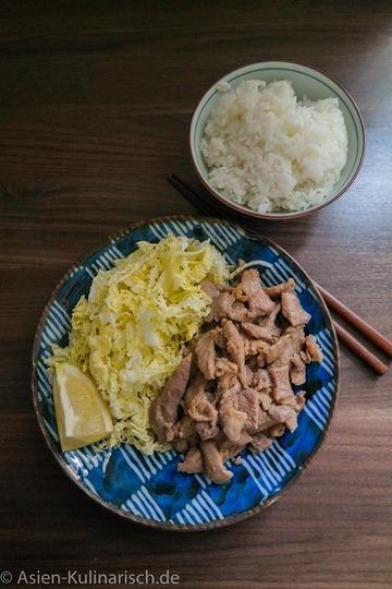 Rezept Sogayaki - mit Ingwer marniertes Schweinefleisch