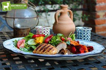 Rezept Sommer Grillsalat mit Hähnchen