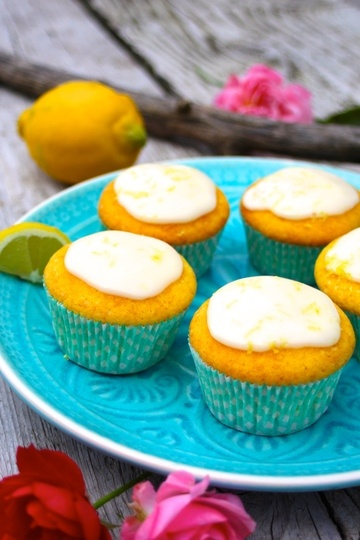 Rezept Sommerleichte Zitronenmuffins