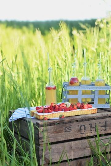 Rezept Sommerlich leichte Zitronentarte mit Beeren