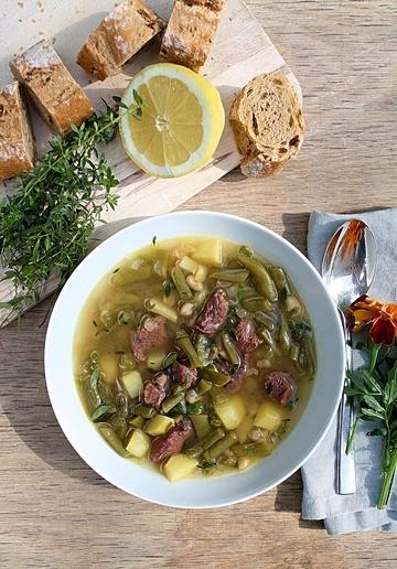 Rezept Sommerliche Bohnensuppe