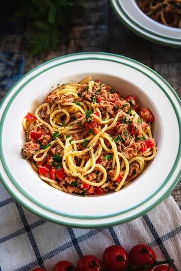 Rezept Sommerliche Pasta mit Thunfisch