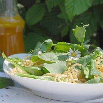 Rezept Sommerliche Spaghetti mit Spinat und Kokos-Limettensoße