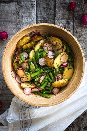 Rezept Sommerlicher Kartoffelsalat ohne Mayo oder Brühe