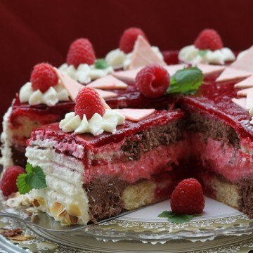 Rezept Sommertraum Himbeer-Schoko-Sahne-Torte