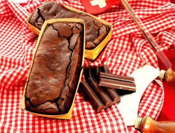 Rezept Soufflierte Schokolade Brownies mit Mandeln - Glutenfrei