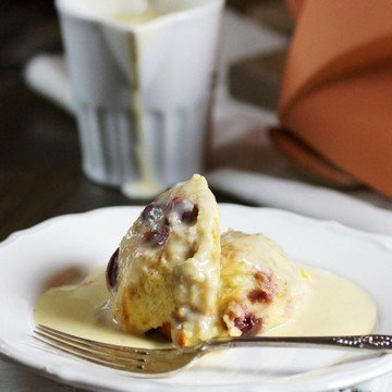 Rezept Soulfood: Kirsch-Brotpudding