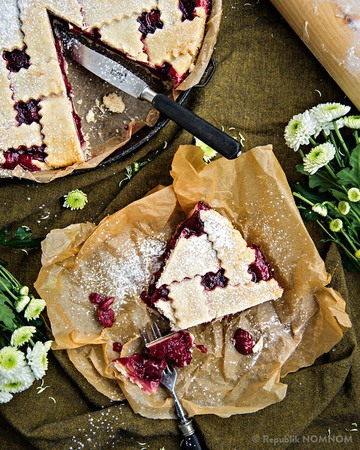 Rezept Sour Cherry Pie / Fruchtige Weichsel Pie
