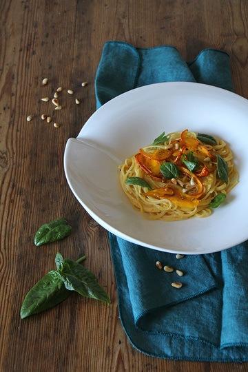 Rezept Spagetthi mit Hokkaido-Kürbis
