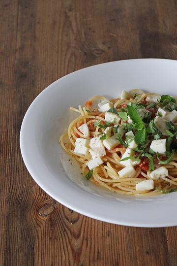Rezept Spagetthi mit schnellem Tomatensugo