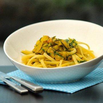 Rezept Spaghetti an Safran-Zucchini
