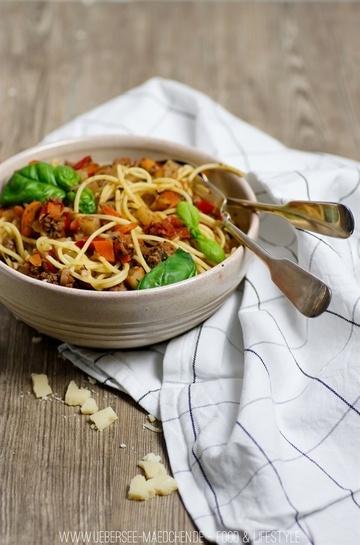 Rezept Spaghetti Bolognese mit viel Gemüse