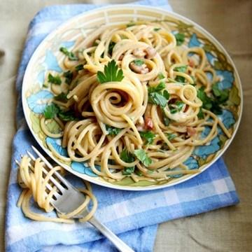 Rezept Spaghetti Carbonara mit Petersilie