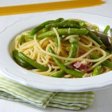 Rezept Spaghetti con i fagiolini