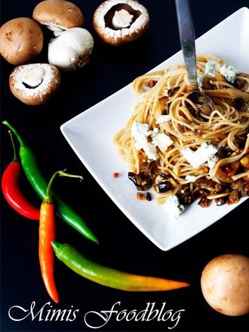 Rezept Spaghetti Funghi mit Gorgonzola