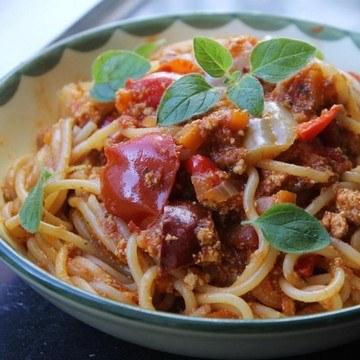 Rezept Spaghetti mit Gemüse-Tofunese