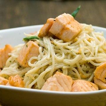 Rezept Spaghetti mit Lachs
