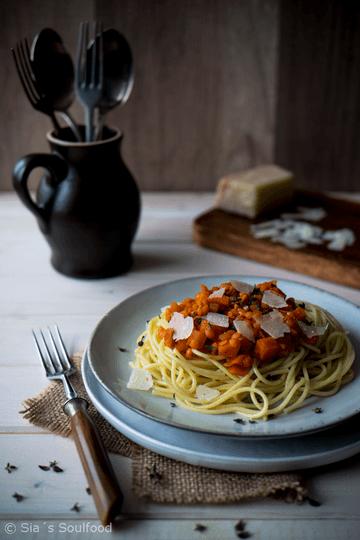 Rezept Spaghetti mit Linsen-Sauce