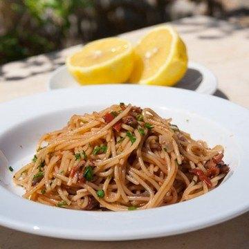 Rezept Spaghetti mit Oktopus