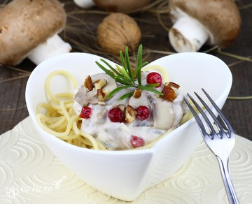 Rezept Spaghetti mit Pilz-Mascarpone-Sauce