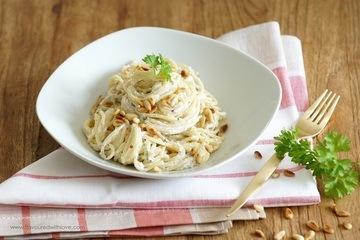 Rezept Spaghetti mit Ricotta und Mandeln
