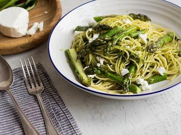Rezept Spaghetti mit Spargel und Bärlauchppesto