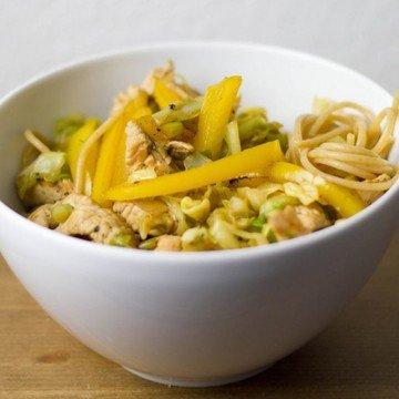 Rezept Spaghetti mit Spitzkohl und Pute