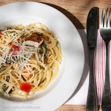 Rezept Spaghetti mit Vleeta und Manouri
