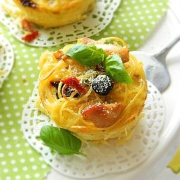 Rezept Spaghetti-Puten Nester