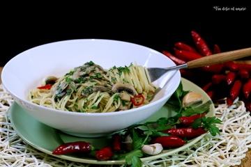 Rezept Spaghettini ai funghi