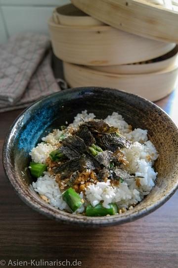 Rezept Spargel auf Sushi-Reis