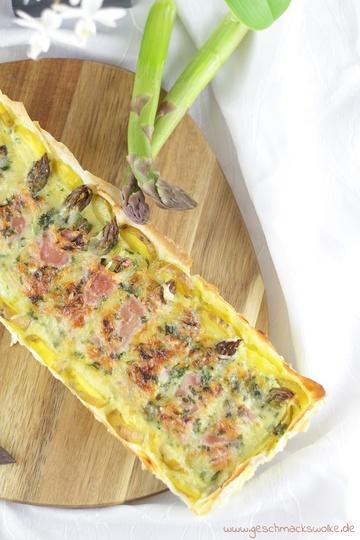 Rezept Spargel-Kartoffel-Tarte mit knusprigem Strudelteig