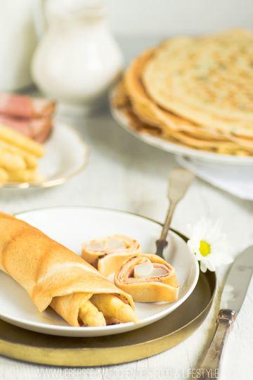 Rezept Spargel mit Pfannkuchen und Sauce hollandaise