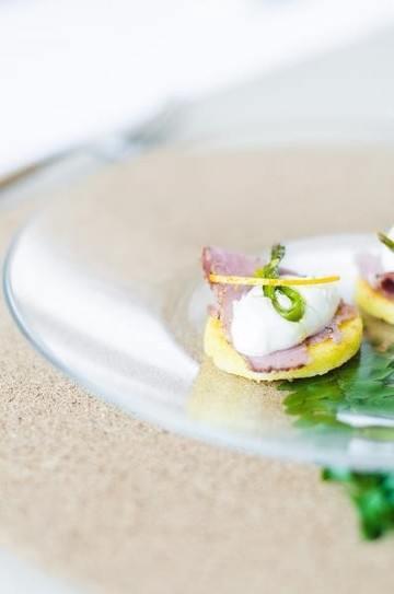 Rezept Spargel Polenta Häppchen und dazu Martini Tonic