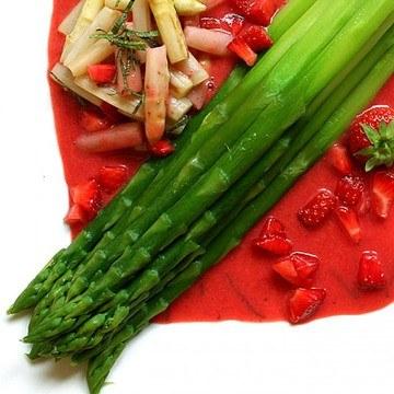 Rezept Spargel und Erdbeeren