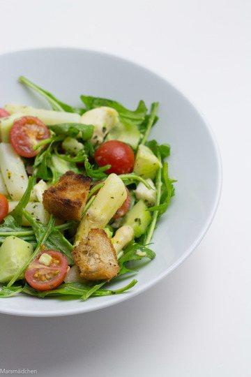 Rezept Spargelsalat mit Avocado und Mozzarella