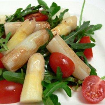 Rezept Spargelsalat mit Rucola und Tomaten