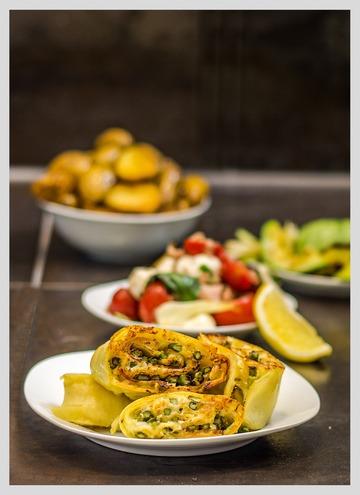 Rezept Spargeltaler mit Tomatensalat