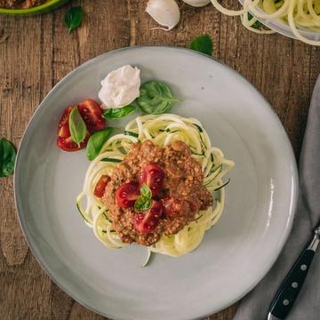 Rezept Spicy Nuss Bolognese