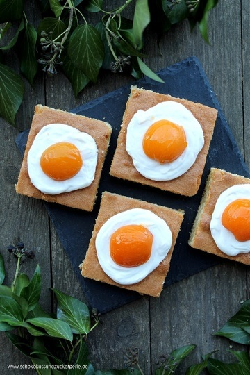 Rezept Spiegeleikuchen mit Aprikosen