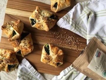 Rezept Spinat-Feta-Blätterteigtaschen